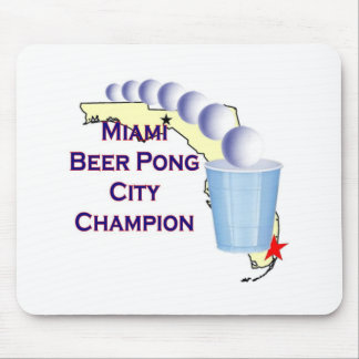 Miami Beer POng Champion Mouse Pad
