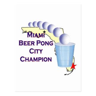 Miami Beer POng Champion Post Card