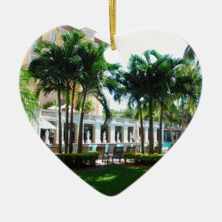 Miami Biltmore pool area Ceramic Ornament