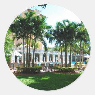 Miami Biltmore pool area Classic Round Sticker