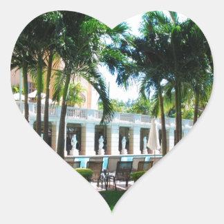Miami Biltmore pool area Heart Sticker