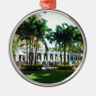 Miami Biltmore pool area Metal Ornament