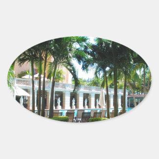 Miami Biltmore pool area Oval Sticker