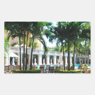 Miami Biltmore pool area Rectangular Sticker
