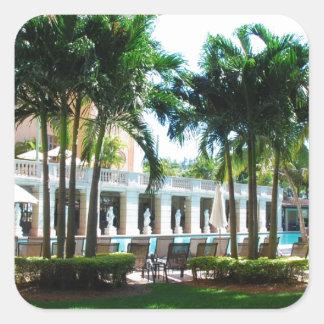 Miami Biltmore pool area Square Sticker
