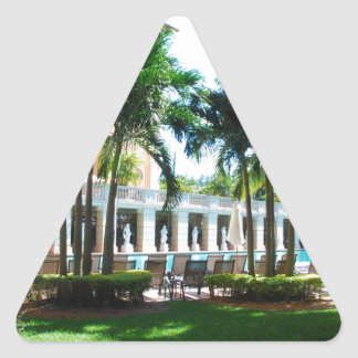 Miami Biltmore pool area Triangle Sticker