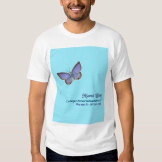 Miami Blue Butterfly #9 Tee Shirt
