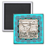 Miami Blue Fantasy Frame Template Magnet