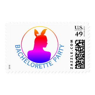 Miami Bunny Girl Bachelorette Party Postage