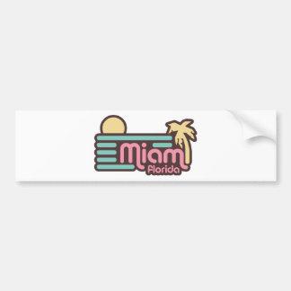 Miami Pegatina Para Auto