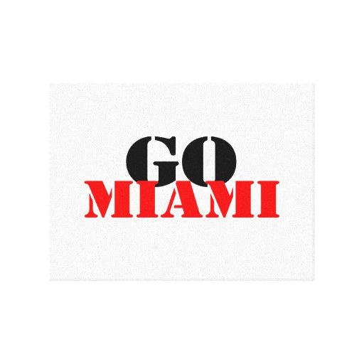 Miami Stretched Canvas Prints