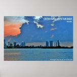 Miami céntrica la Florida Posters