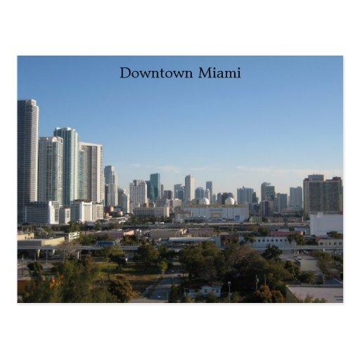 Miami céntrica tarjetas postales