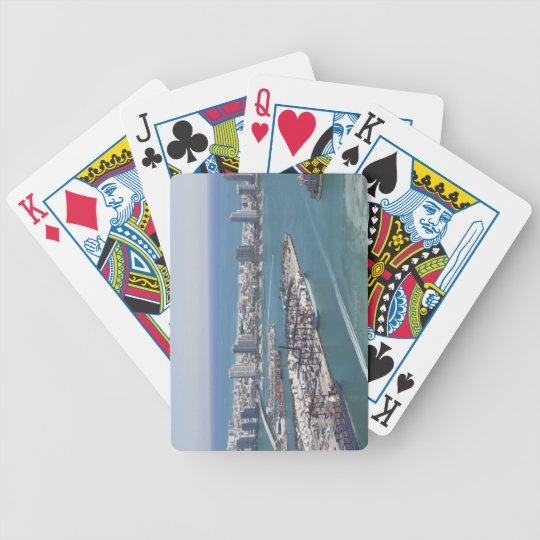 Miami Cityscape 2 Bicycle Playing Cards