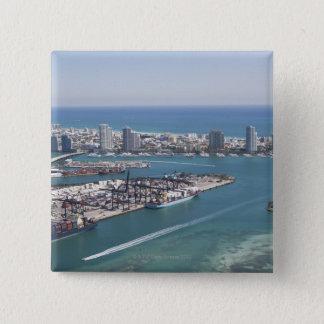Miami Cityscape 2 Pinback Button