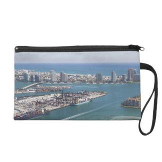 Miami Cityscape 2 Wristlet Purse