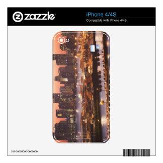 Miami Cityscape iPhone 4 Skins