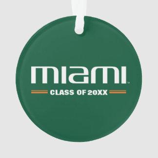 Miami Class Year Ornament