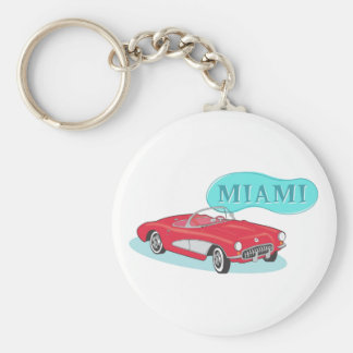 Miami Classic Corvette Key Chains