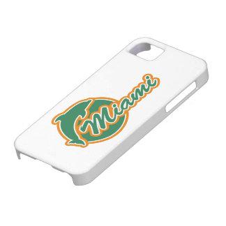 Miami con la cubierta del iPhone 5 del delfín Funda Para iPhone SE/5/5s