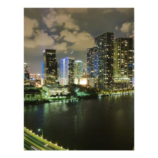 Miami en la noche membrete personalizado
