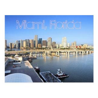 Miami, entrada internacional al mundo tarjeta postal