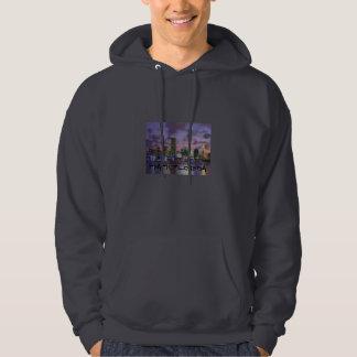 Miami Evening Skyline Hooded Sweater