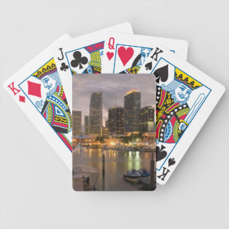 Miami financial skyline at dusk bicycle playing cards