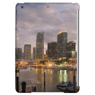 Miami financial skyline at dusk case for iPad air