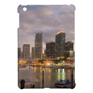Miami financial skyline at dusk iPad mini cases