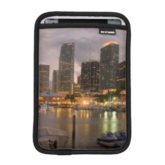 Miami financial skyline at dusk iPad mini sleeve
