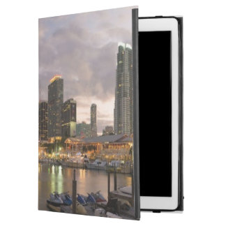 Miami financial skyline at dusk iPad pro case