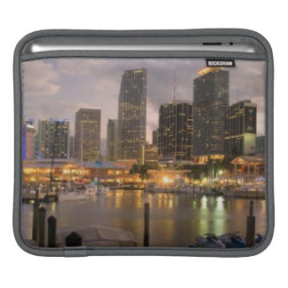 Miami financial skyline at dusk iPad sleeve