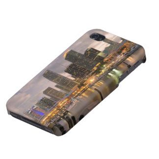 Miami financial skyline at dusk iPhone 4 case