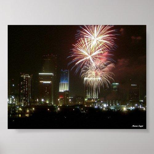 Miami Fireworks print