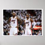MIAMI, FL - 2 DE JUNIO: LeBron James #6 y Dwyane Posters