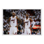 MIAMI, FL - 2 DE JUNIO: LeBron James #6 y Dwyane Póster