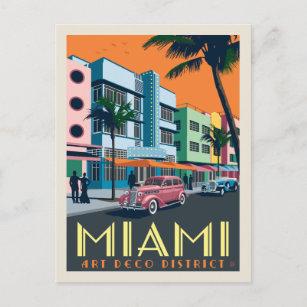 Miami, FL   Art Deco District Postcard