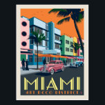 "Miami, FL | Art Deco District Postcard<br><div class=""desc"">Anderson Design Group is an award-winning illustration and design firm in Nashville,  Tennessee. Founder Joel Anderson directs a team of talented artists to create original poster art that looks like classic vintage advertising prints from the 1920s to the 1960s.</div>"