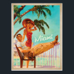 "Miami, FL -Couple Postcard<br><div class=""desc"">Anderson Design Group is an award-winning illustration and design firm in Nashville,  Tennessee. Founder Joel Anderson directs a team of talented artists to create original poster art that looks like classic vintage advertising prints from the 1920s to the 1960s.</div>"