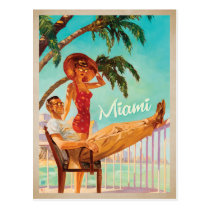 Miami, FL -Couple Postcard