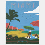 Miami, FL Fleece Blanket