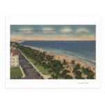 Miami, FL - impulsión del océano y parque de Tarjetas Postales