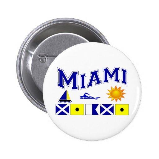 Miami, FL Pin Redondo 5 Cm