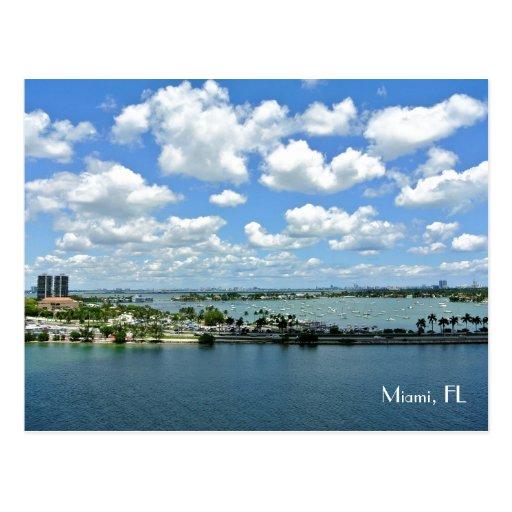 Miami, FL Port Postcard