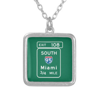 Miami, FL Road Sign Pendant