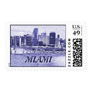 Miami Fl Skyline Postage Stamps