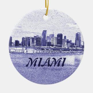 Miami FL Skyscrapers Christmas Ornament