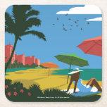 Miami, FL Square Paper Coaster