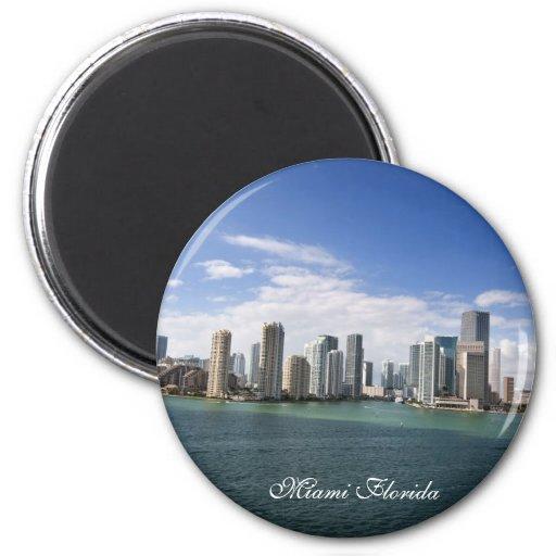 Miami Florida 2 Inch Round Magnet